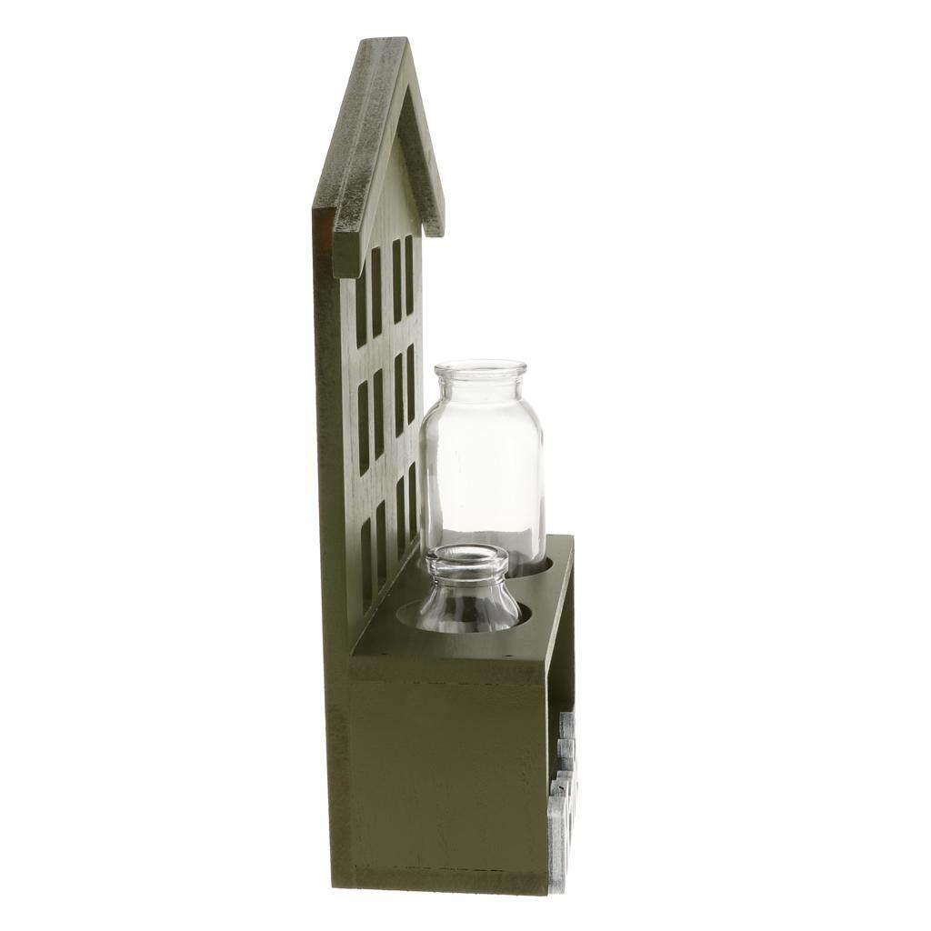 BolehDeals Glass Flower Vase Hydroponic Planter Pot Container Case Home Decor Green