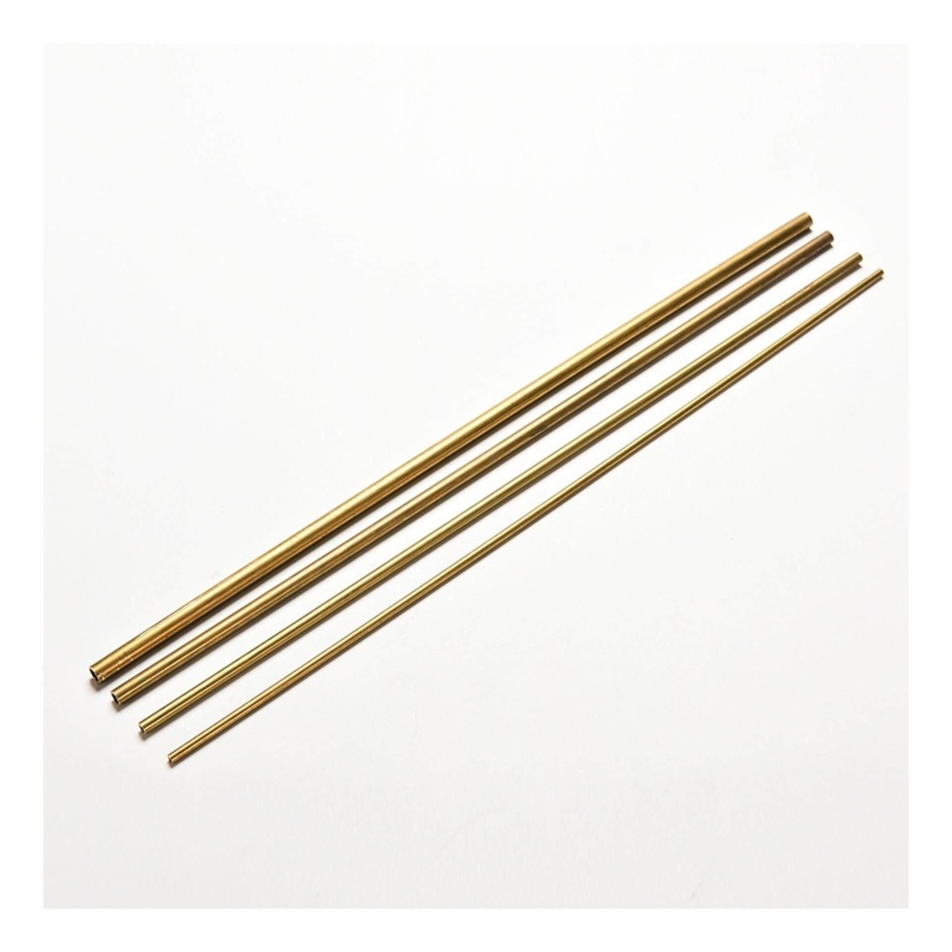 Brass Tube Pipe Tubing Round Inner 2mm 3mm 4mm 5mm Long 300mm Wall 0.5mm - intl