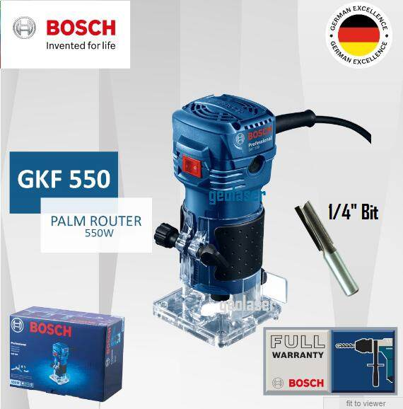 BOSCH 550W PALM ROUTER (GKF550) [ GEOLASER ]