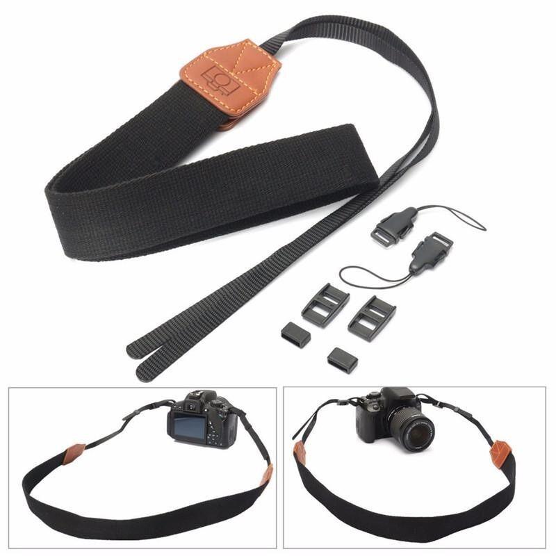 3pcs Vintage Black DSLR Camera Neck Shoulder Strap Belt For Canon Nikon Pentax Sony