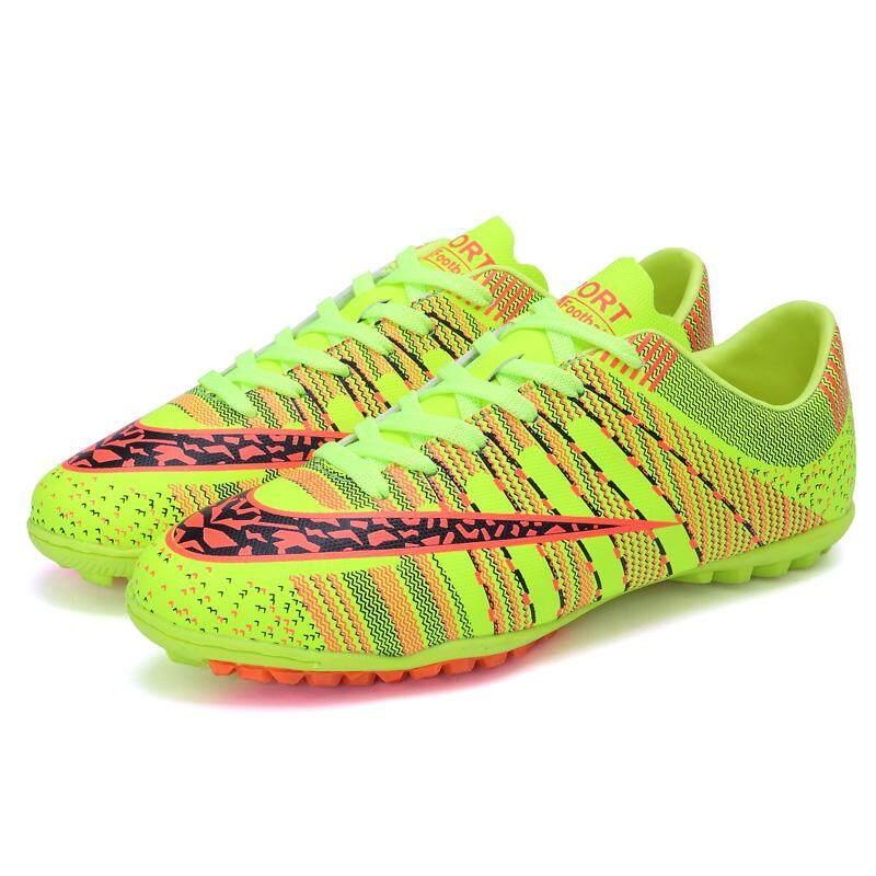 Sepatu Sepak Bola untuk Pria 4 Warna 2018 Fashion Pendek Bintang Kuku Gaya Sepatu Sepak Bola Pria Olahraga Luar Ruangan Latihan Sepakbola Cleat Piala Dunia Pelatih Sepakbola sepatu Penjualan Terlaris Sepatu Futsal Ukuran 35-44-Intl