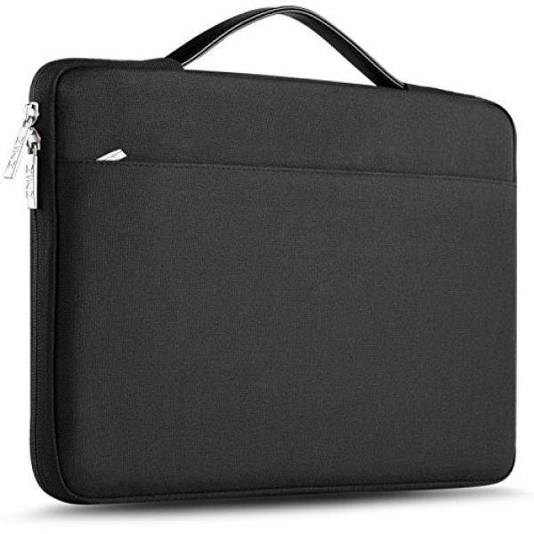 Laptop Briefcases ZINZ 15 - 15.6 Inch Laptop Sleeve Case Protective Bag for 15 MacBook Pro 2016, Ultrabook Notebook Carrying Case Handbag for 15 ASUS Acer Lenovo Dell HP Toshiba Chromebook Computers -Black - intl