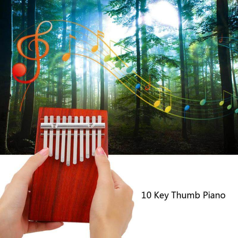 10 Keys Rosewood Thumb Piano Musical Instrument Accompaniment Training for Children Learner Malaysia