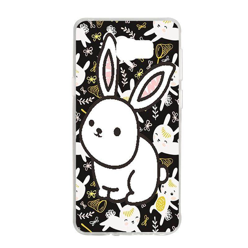 White Rabbit TPU Soft Silicon Phone Case Cover For Samsung Galaxy Note 5