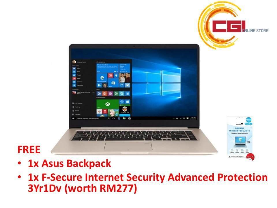 Asus Vivobook A510U-FEJ140T 15.6 Laptop - Gold (i7-8550U,4GB,1TB,NVD MX130,W10) Malaysia
