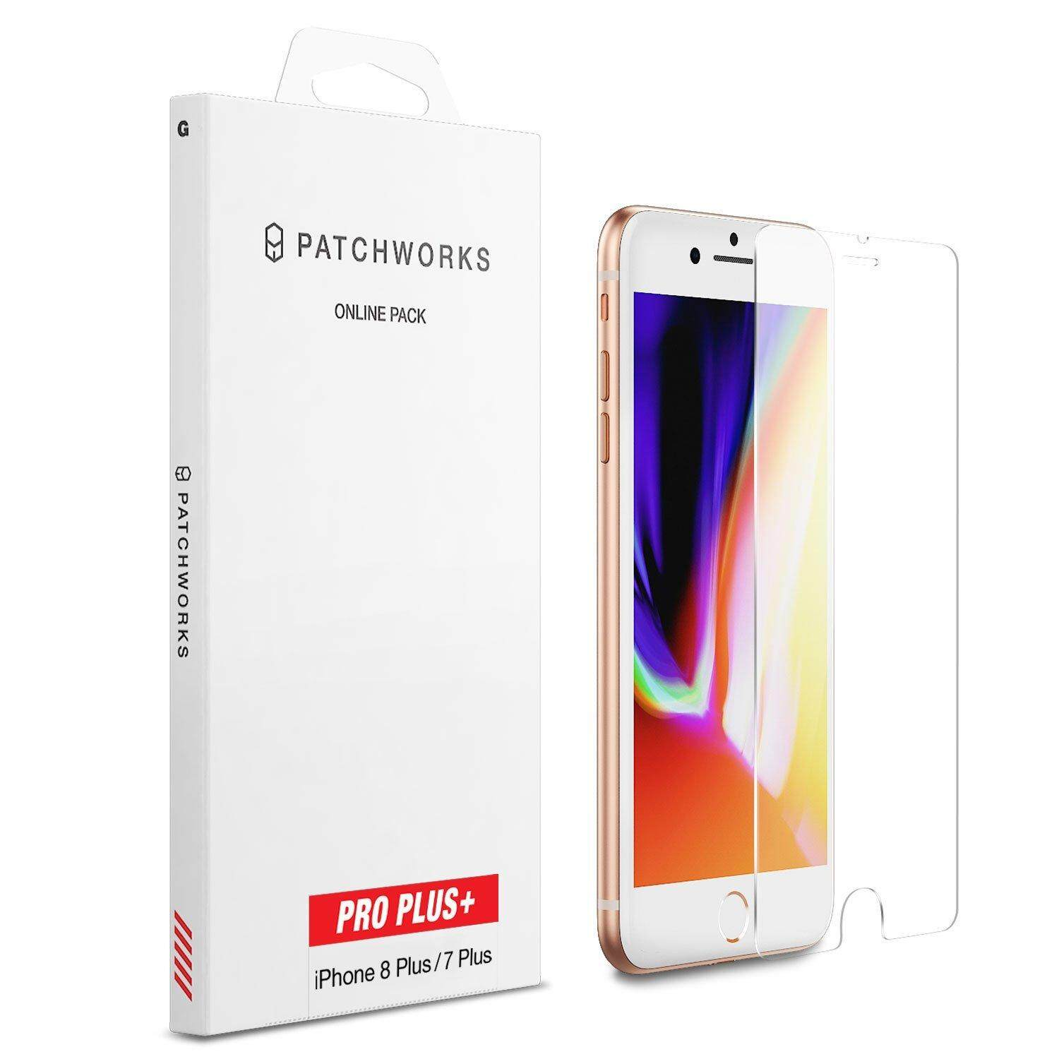 Suit for iPhone 8 Plus 7 Plus 6S 6 Plus Screen Protector, Patchworks ITG Pro Plus Made in Japan 9H 0.33mm Scratch Resistant Beveled Edge Oleophobic Coated Tempered Glass for iPhone 8 7 6S 6 Plus - intl