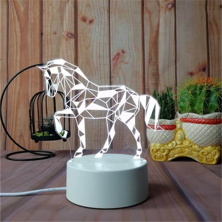 3D Optical Illusion LED Table Night Light(Horse)