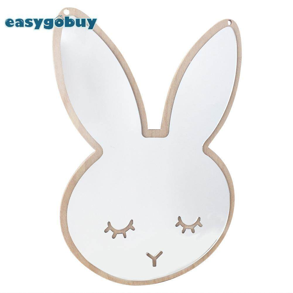 Rabbit Paste Wall Hanging Decorative Mirror Desktop Ornaments for Baby Room