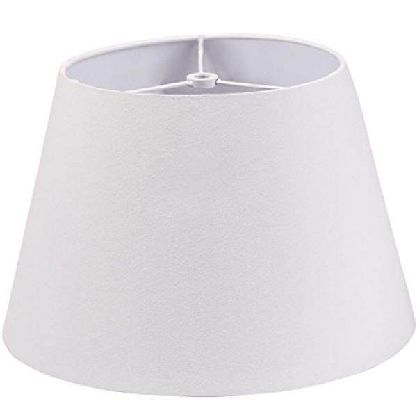 Lamp Shade IMISI Desk Lamp Table Lamp Shade Linen Fabric White Reading Lamp Shades 7.9 X 7.5 X 11.8 inch Dining Standing White Lamp Shades for Men (one-Pack)