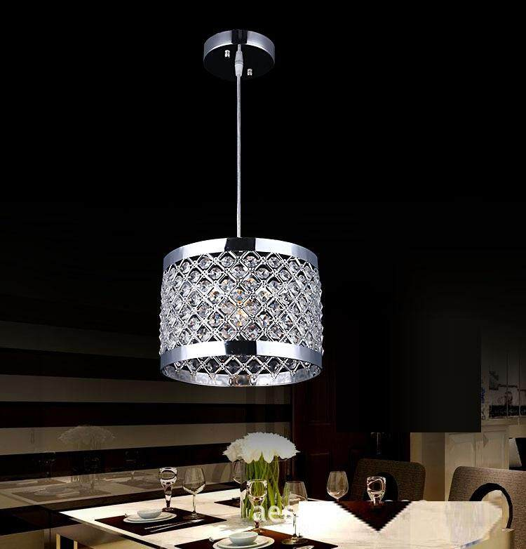 Restaurant Simple Modern Chandelier Balcony Single Crystal Hotel Aisle Pendant Light