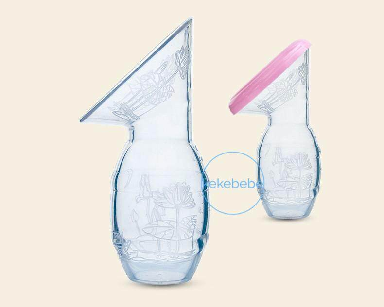 [free Brush] Leke Baby Silicone Pump (similar Haakaa) Milk Collector With Lid By Kekebebe.