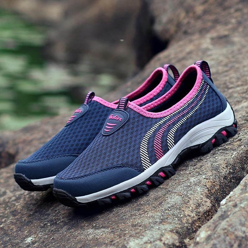 ... MENTEE Pria Dan Wanita Luar Sepatu Hiking Sepatu Bernapas Perjalanan Luar Sepatu Jala - 5