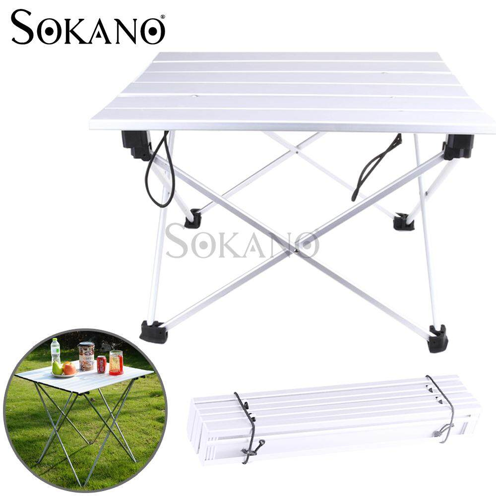 (RAYA 2019) SOKANO FCT01 Ultralight Super Compact Foldable Aluminium Outdoor Camping Table Picnic Table L Size With Carrying Bag (Can Fit in Backpack)