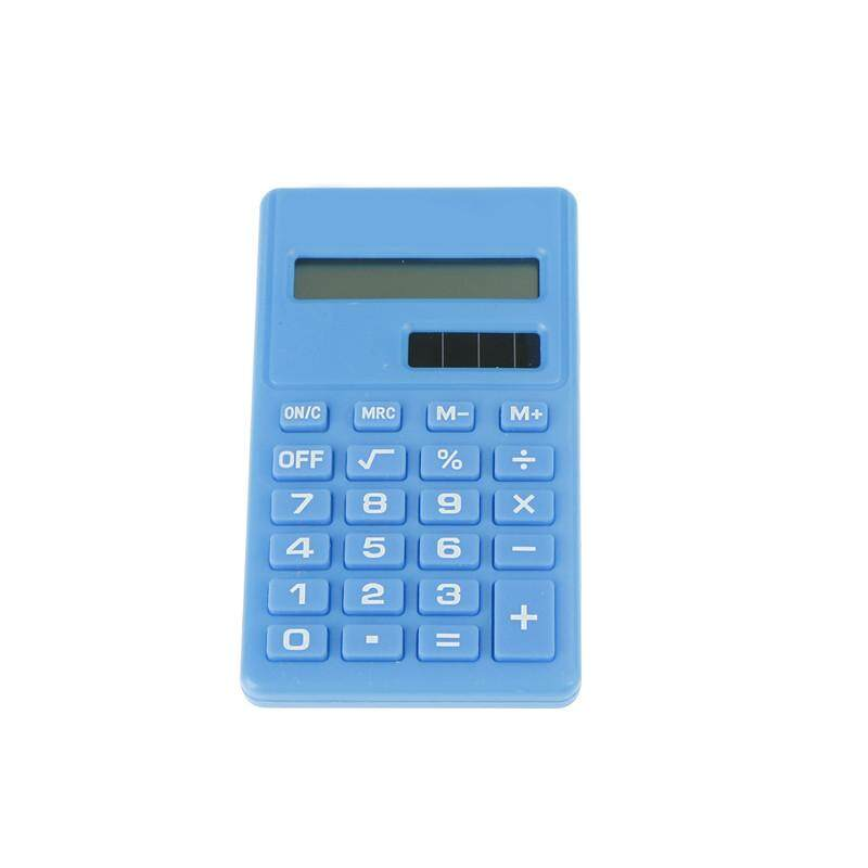 Kalkulator Mini 8 Digit Display Dual Power Supply Lucu Permen Calculadora Solar Orange