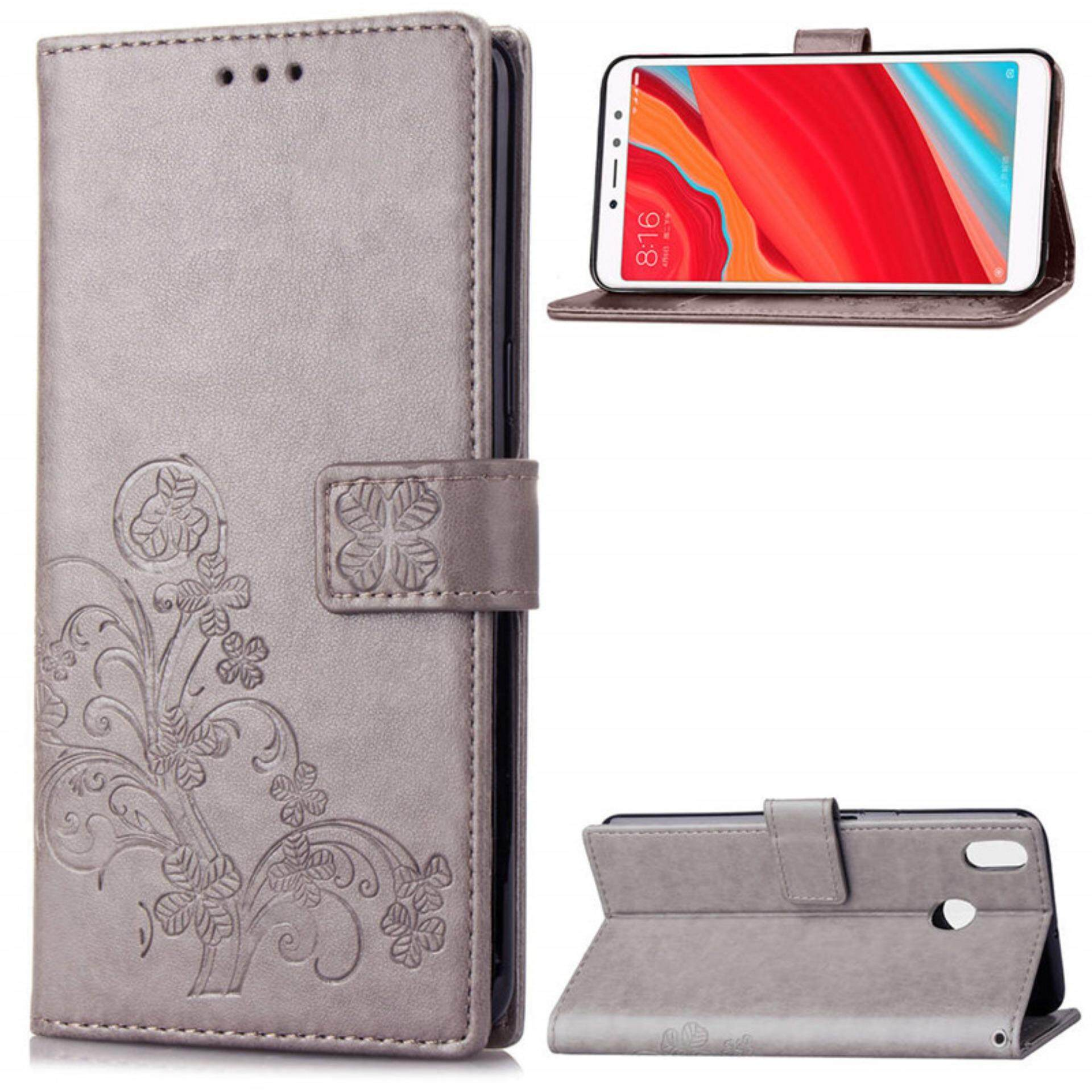 Flower Debossed Leather Flip Cover Case for Xiaomi Redmi S2