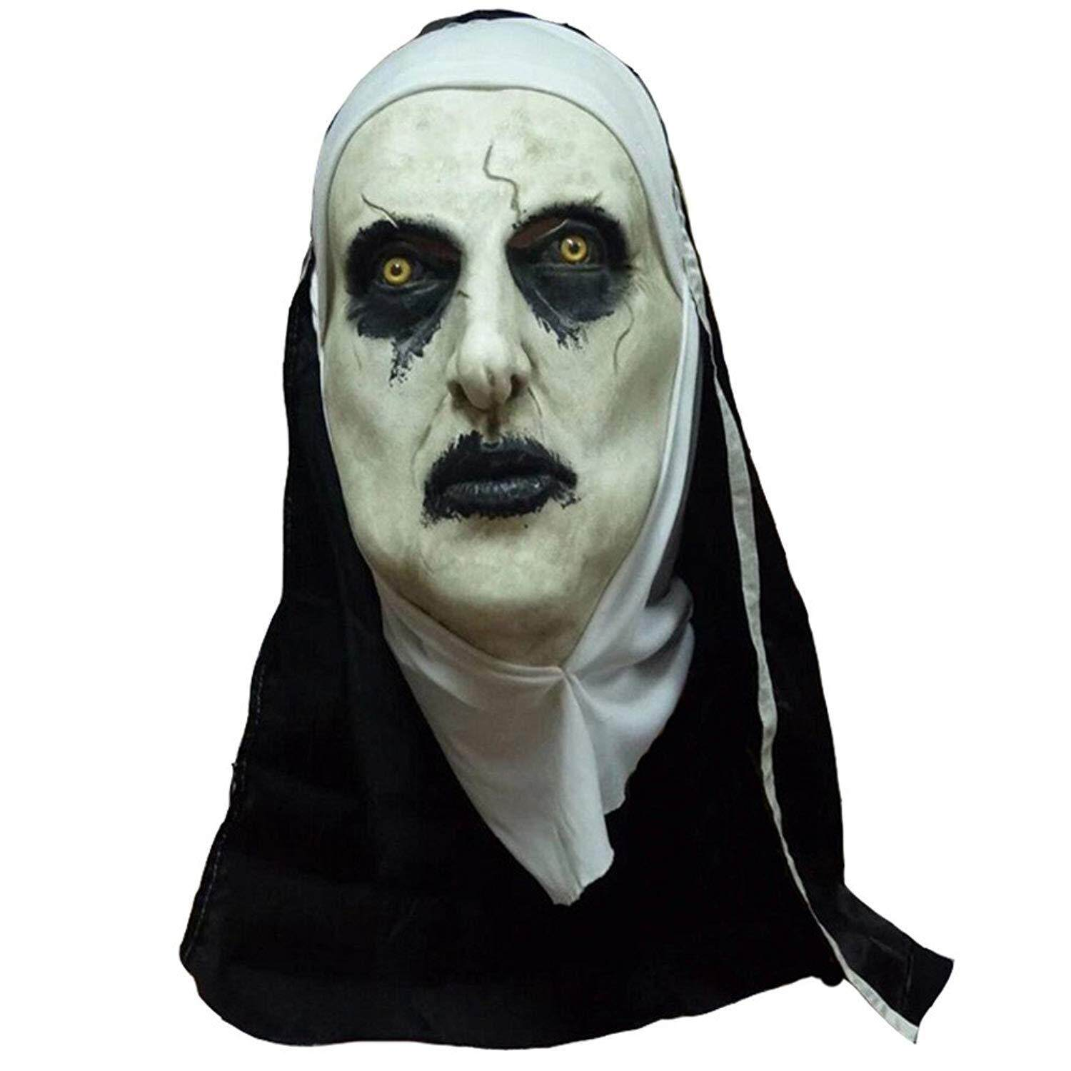 Hình ảnh 1 Pcs The Conjuring 2 Mask Cosplay The Nun Valak Scary Latex Masks With Headscarf Full Face Helmet Halloween Party Props