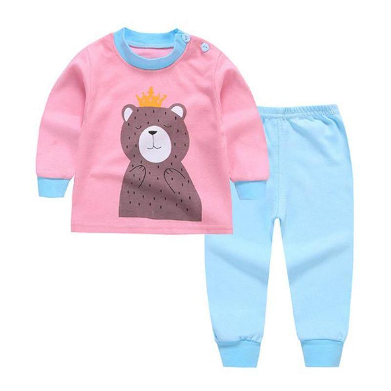 BK 2pcs Kids Baby Boys Girls Clothes Top+Pants Cotton Baby Pajamas Sleepwear 6869c0249