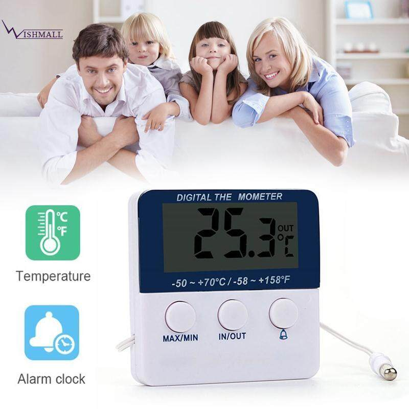 Wishmall Electronic Thermometer Digital Thermometer Thermometer Alarm White.