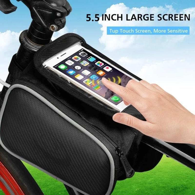 Sepeda Depan Layar Sentuh Kantung Telepon Gengam MTB Bersepeda Sepeda Balap Tas Ponsel Siklus Depan Tas