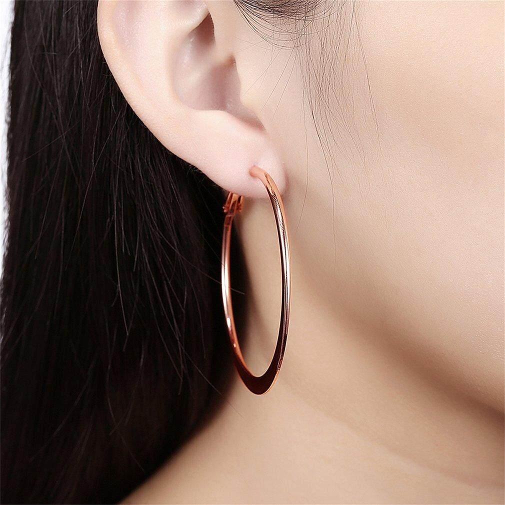 1 Pair Lkn18krgpe949 Round Hoop Earrings For Women S Clic Love Gift