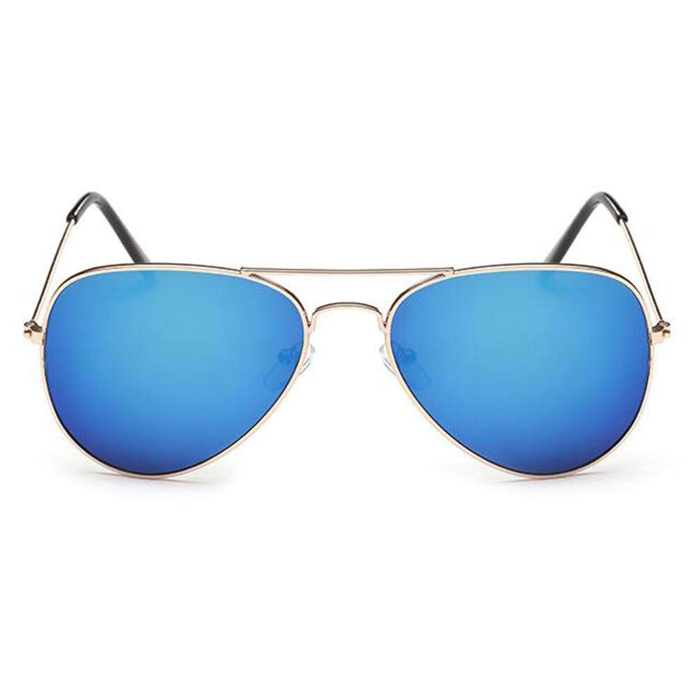 Retro Colorful Aviator Sunglasses for Mens Womens Mirrored Sun Glasses Shades with UV400 Lenses Color: