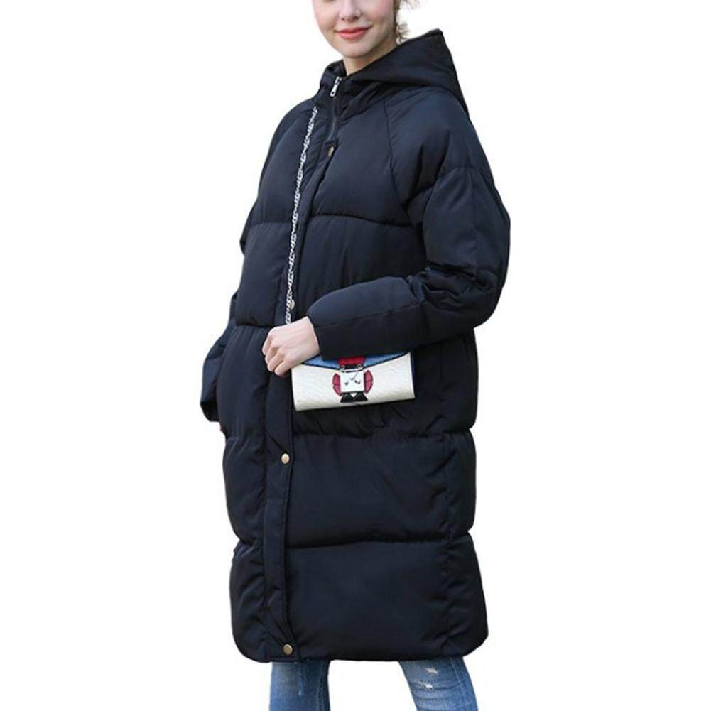 Hình ảnh thu nhỏ Big Sale Women Winter Thicken Long Large Size Cotton Coat Solid Color
