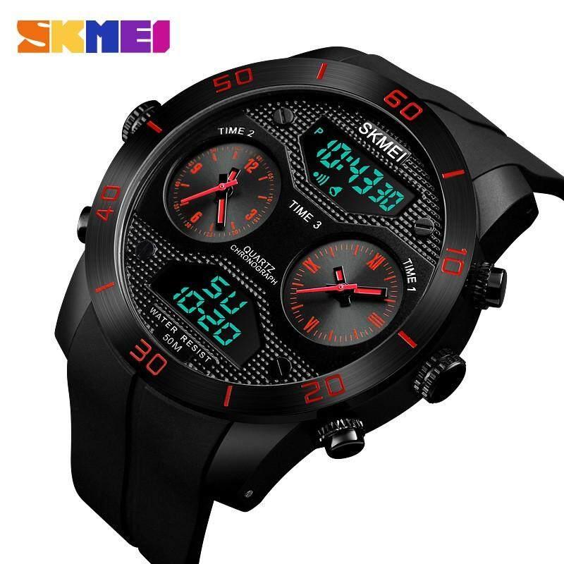 Skmei 1355 Men's New Dual Display Wrist Watches 3 Countdown Watch Time 50M Waterproof Men's Watches