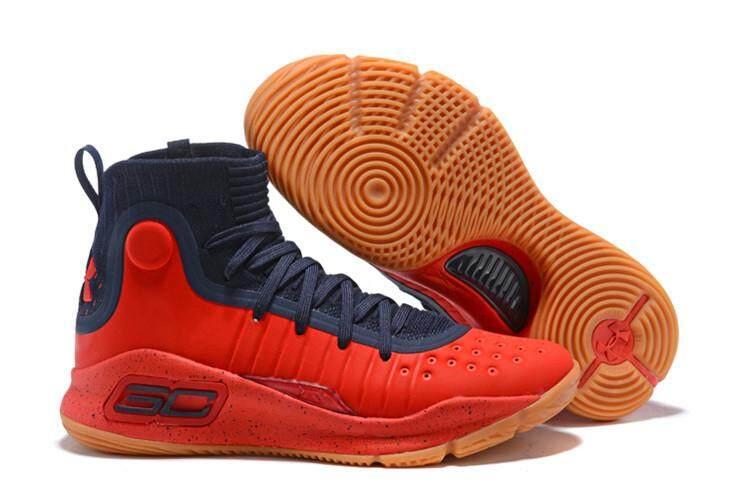 Under Armour Resmi Stephen Curry Curry 4.0 MID TOP Sneakers SC Pria  Basketaball Sepatu (Merah 285c5eb031