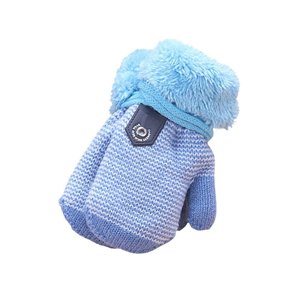 ฤดูหนาวน่ารักอบอุ่นถุงมือถักเย็นสภาพอากาศ Thicken Hot ถุงมือนิ้วมือสำหรับเด็กวัยหัดเดินเด็กทารกผู้หญิงชาย By Sawu.