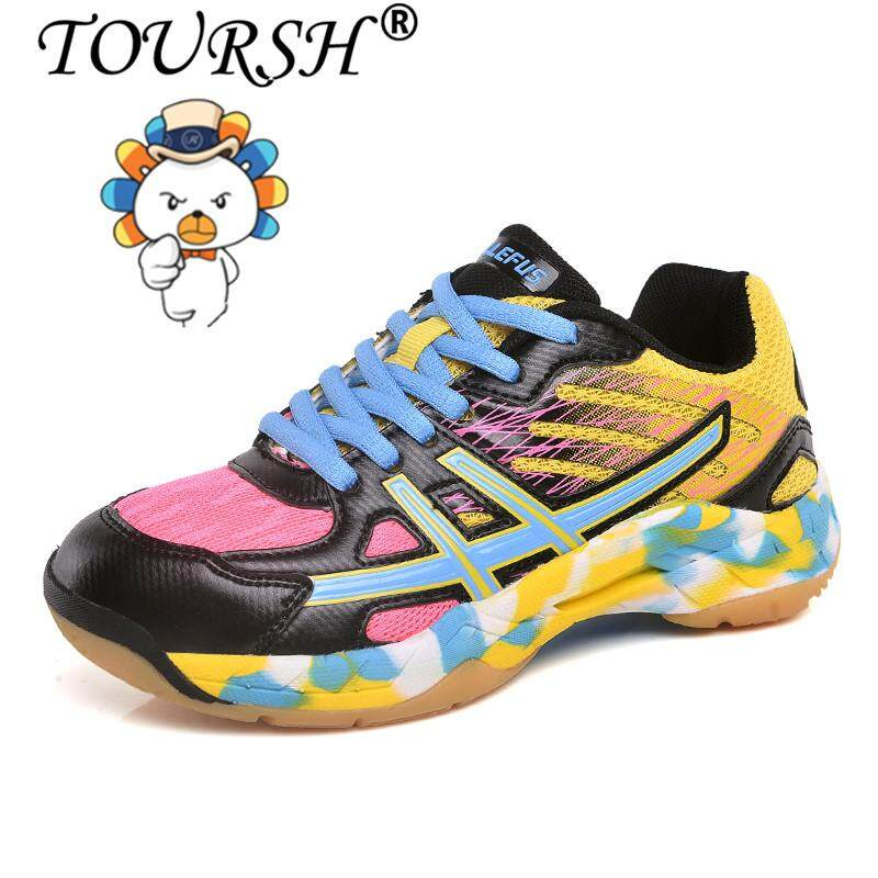 Toursh Anak Laki-Laki Perempuan Sepatu Bulu Tangkis Sepatu Tenis Untuk Anak-Anak Sneakers Indoor Sport Shoes【free Shipping】 By Toursh.