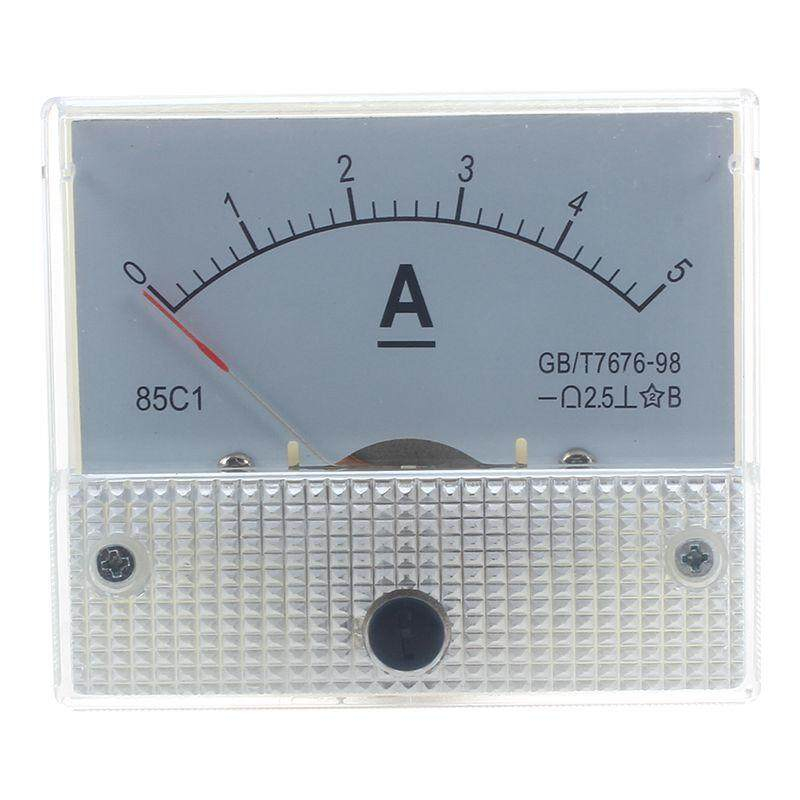 Analog 85C1 DC 5A Panel Meter Amperemeter Meter Installation meters