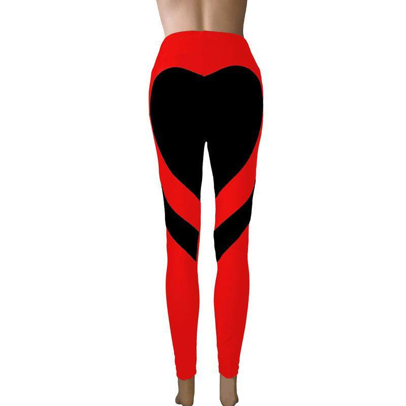 Sales Price 2018 New Fashion S*Xy Women Special Design Love Heart Shape Yoga Leggings Heart Booty Pants Running Tights Crop Workout Pants Intl