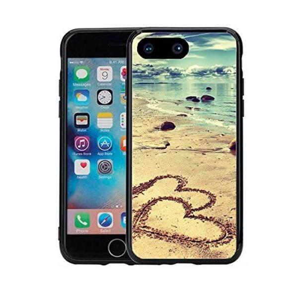 Smartphone Case S Pantai dengan Hati Di Pasir untuk iPhone 7 Plus (2016) dan iPhone 8 Plus (2017) (5.5) Case Cover Atom Pasar-Intl