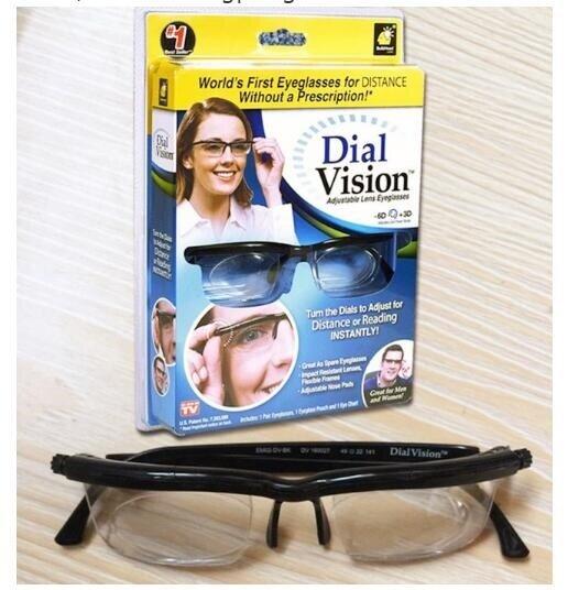 c87f04e7be9 dial vision Adjustable lens Glasses Adjustable Dial Eye Glasses Vision  Reader Glasses