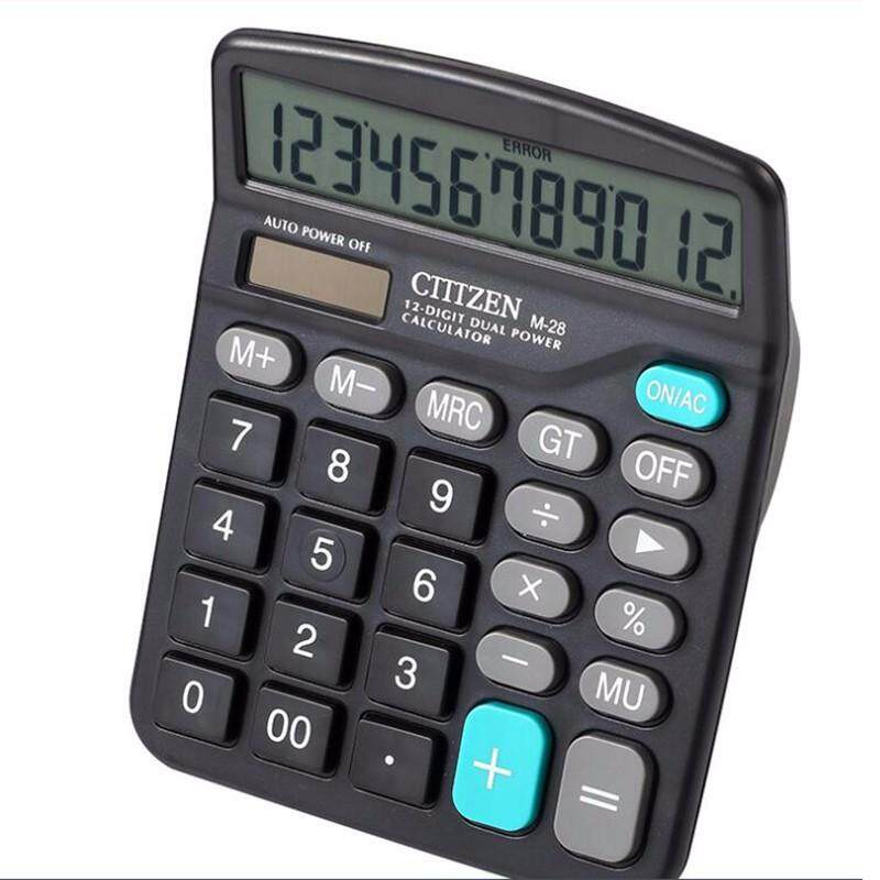 Homester Hot Sell The M28 Solar Calculator 12 Display Computer Calculator