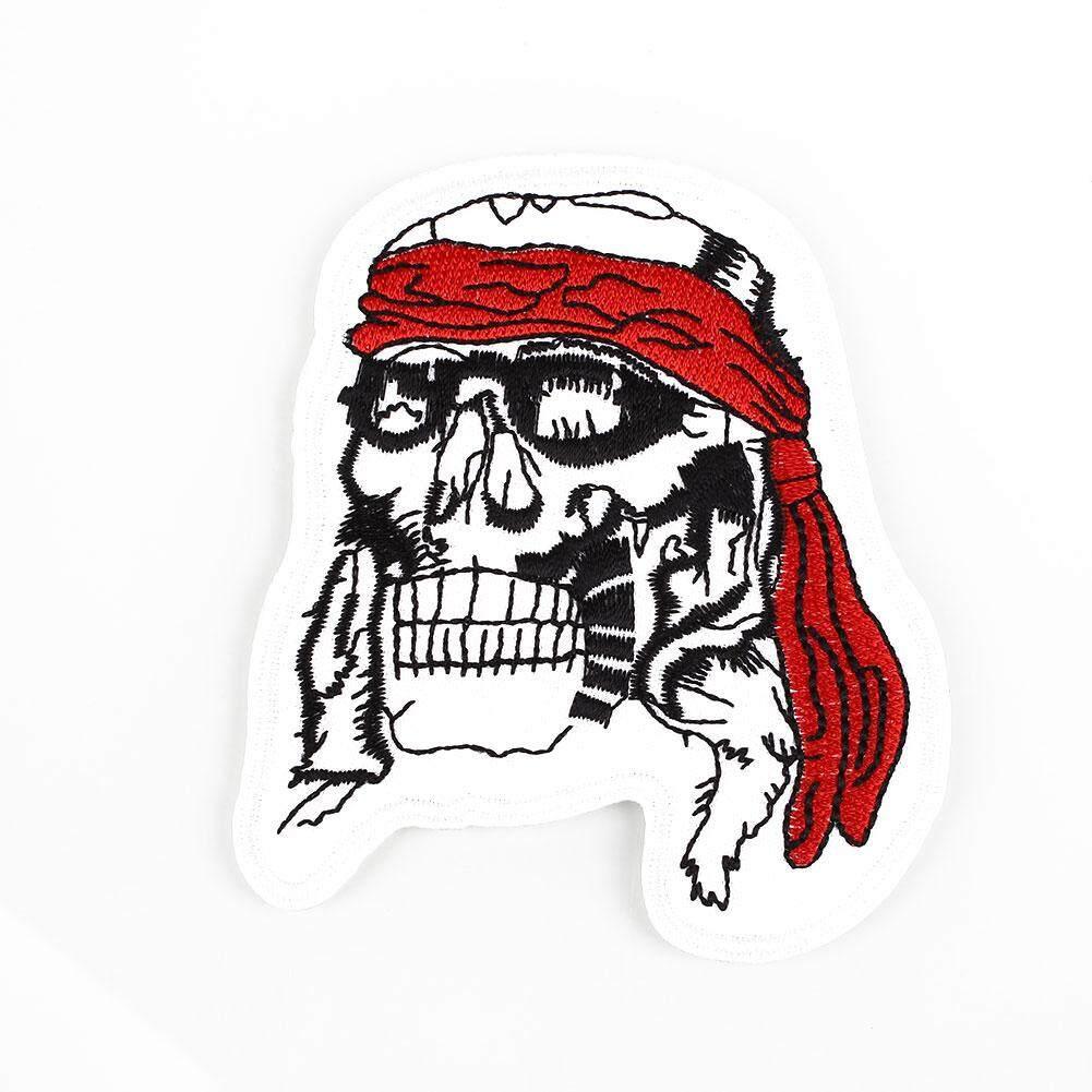 Clearance Penjualan Disulam Tengkorak Tulang Bersilang DIY Pirate Punk Stiker Lencana Tas Kain Bordiran-Internasional