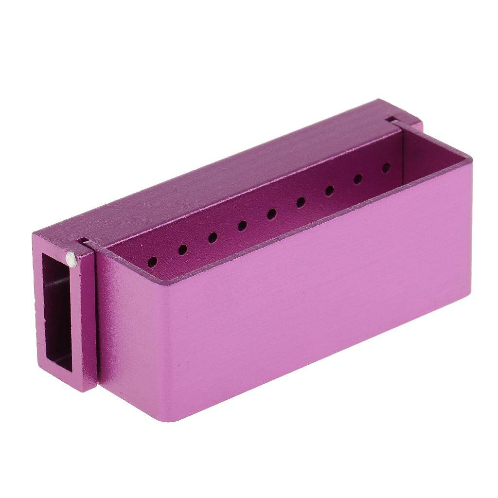 Miracle Shining 30 Holes Dental Bur Holder Block Case Autoclave Disinfection Box Purple