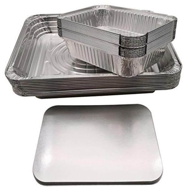 Homedecision Aluminium Sekali Pakai Panci Take-Out Wadah dengan Tutup + Aluminium Foil Uap Meja Besar Panci Set (20 Pack + 10 pack) /dari Amerika Serikat-Intl