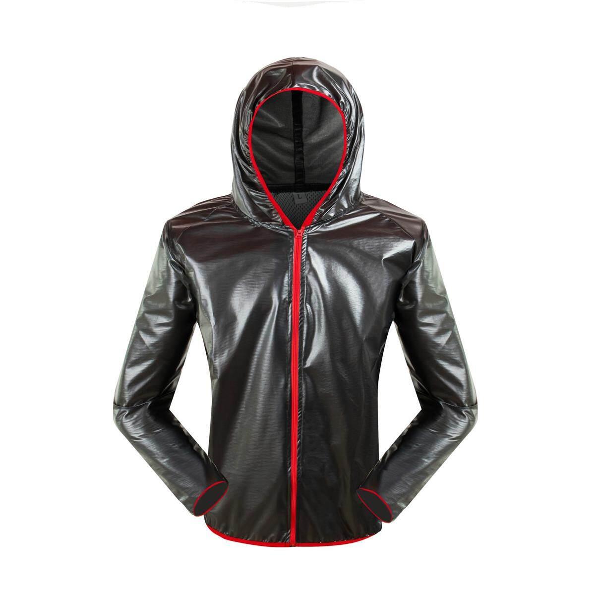 Motor Tahan Air Unisex Jas Hujan Balap Ultra Tipis Beathable Portable Skinsuit Pakaian Abu-abu Tua L