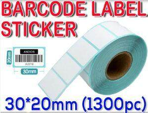 Thermal Barcode Sticker Paper Bar Code Label 30x20mm (1300pc) Kertas Pelekat Kod By Queen Business Store.