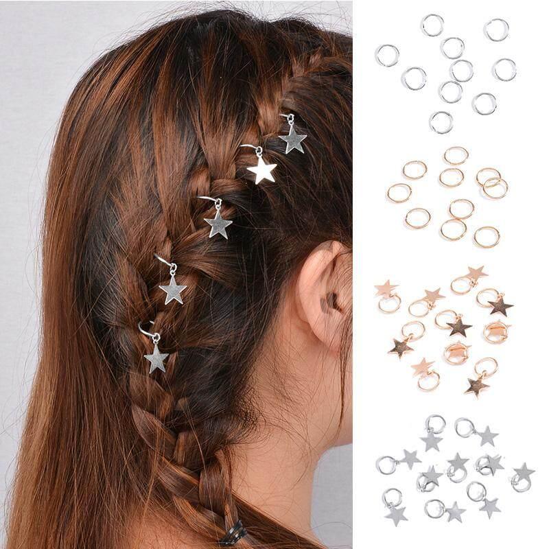 10 Pcs/lot Populer Pesona Penjepit Rambut untuk Wanita Rambut Cincin Jalin Bintang Jepit Rambut