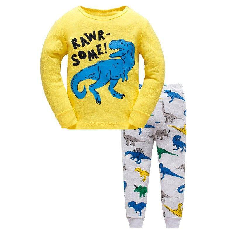 Muxing Children Autumn Pajamas Clothing Set Boys & Girls Cartoon Sleepwear Suit Set Kids Long-Sleeved+pant 2-Piece Baby Clothes By Muxing.