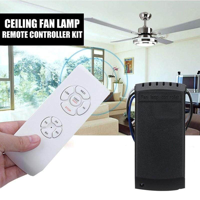 Store Airforcewhite Universal Ceiling Fan Lamp Remote Controller Kit Timing Wireless Switch Intl Oem On China