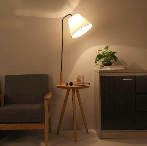 8W Floor lamp study living room sofa coffee table floor lamp Nordic solid wood bedroom bedside vertical reading lamp 40*140*28cm