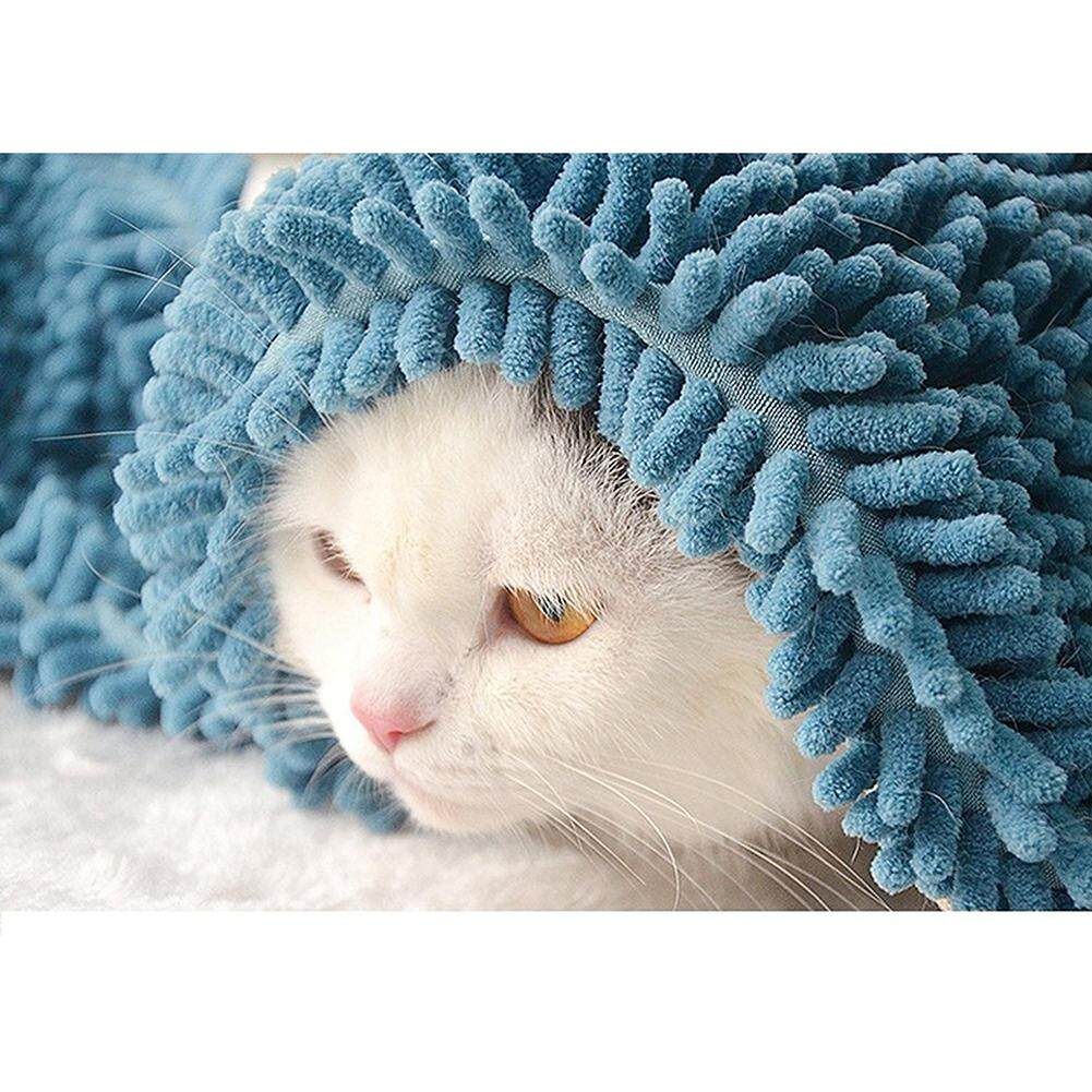 Fast Drying Pet Bath Towel Microfiber Towel With Strong Water Absorption (lake Blue) Small Lake Blue By Super Star Mall.