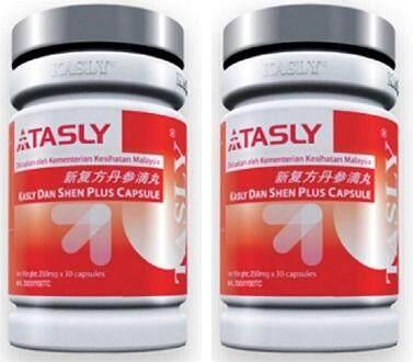TASLY DanShen Plus (2 Bottles x 30 Caps) (New expiry 2022)