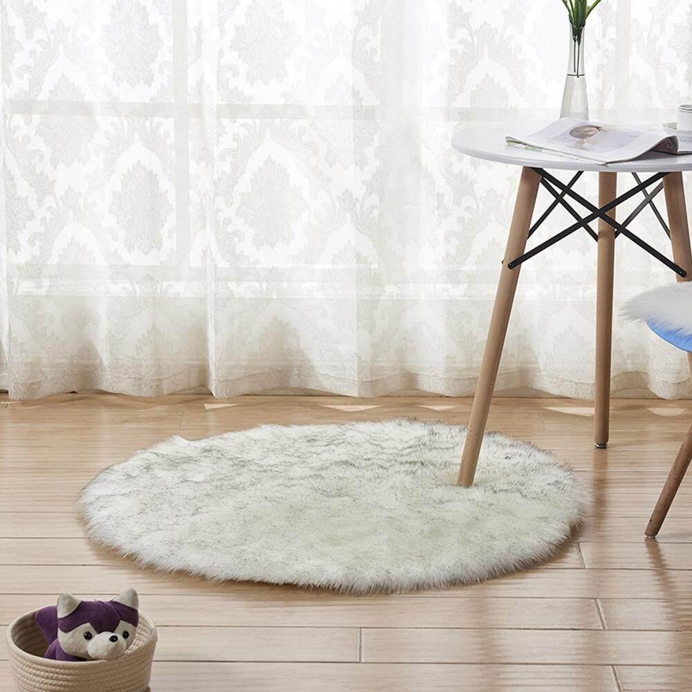 Lembut Bulu Imitasi Karpet Rumah Tangga Kamar Tidur Matras Hangat Sofa Meja Kursi Mainan Pad Karpet