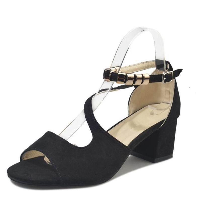 2018 Hot Summer Sandals Women Shoes Pumps Dress High Heels Boat Wedding Shoes Tenis Feminino Peep Toe Cross Flock