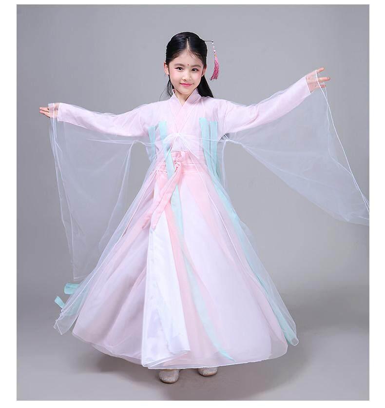 Giá bán Childrens Girls Ancient Costume lady costume Tang suit Hanfu costume cheongsam fairy - intl