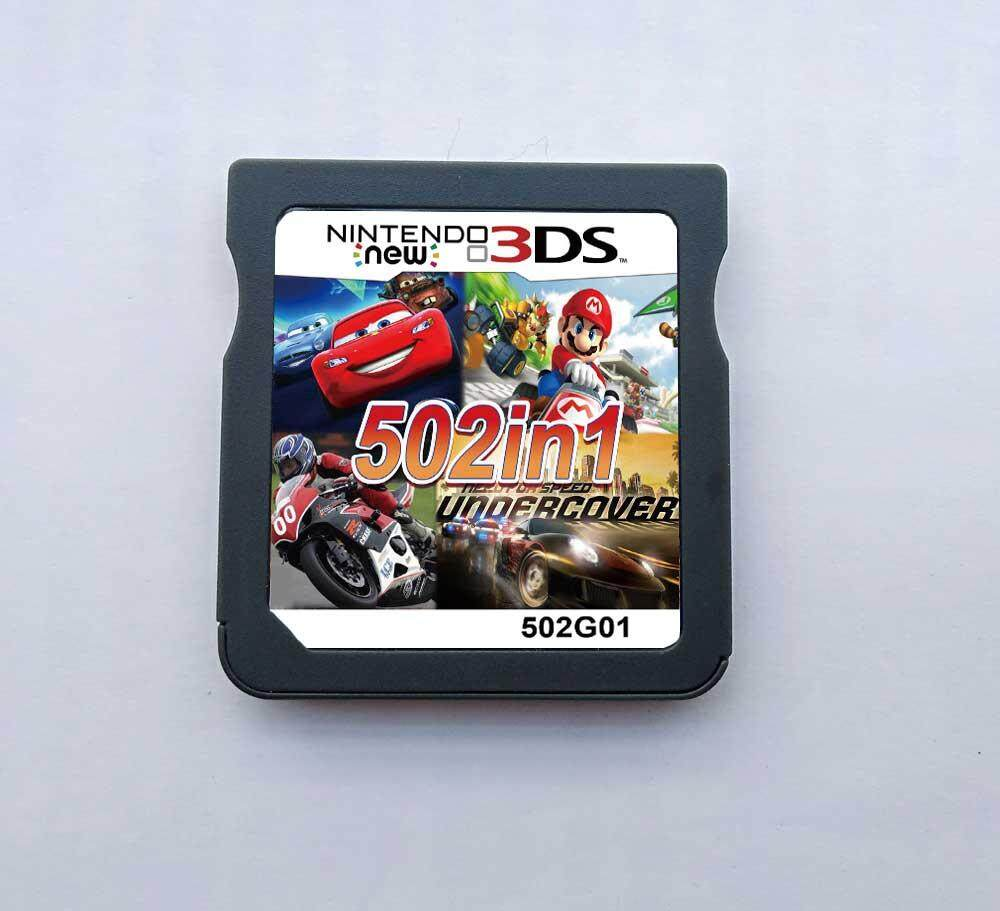 3dff012331 502 Games in 1 NDS Game Pack Card Racing Album Cartridge for DS 2DS New 3DS